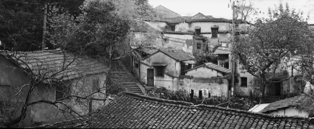 Old Hangzhou before demolition, 1995
