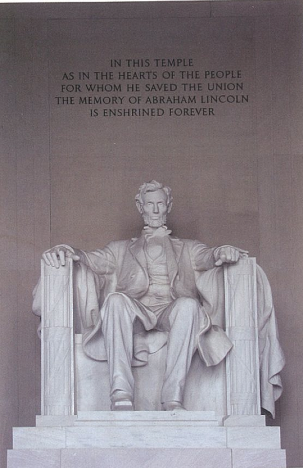 Fig.13. Daniel French, Lincoln Seated, Lincoln Memorial, Washington DC. Photo by Prentis T. Keener, Jr.