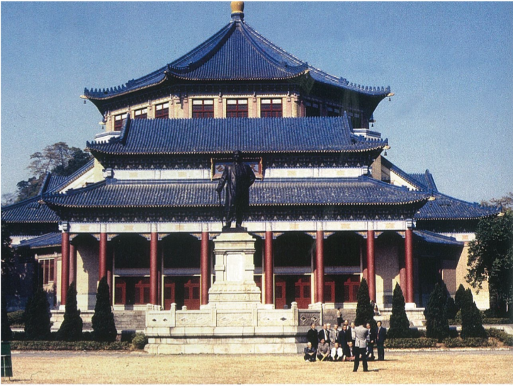 Fig.2. Lü Yanzhi, Sun Yat-sen Memorial Hall, Guangzhou, 1925; completed 1932; restored; bronze statue of Sun, 1956. Photo by Alice de Jong.