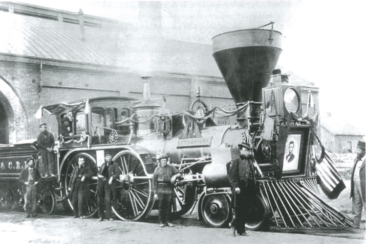 Fig.21. Lincoln Funeral Train. From http://commons.wikimedia.org/wiki/File:LincolnTrain.jpeg.