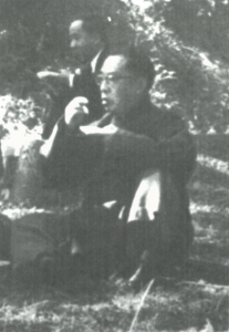 Fig.3a. Qian Mu, attending a picnic at the New Asia College, 1950. Courtesy of the New Asia College, The Chinese University of Hong Kong.