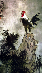 The cock's never-ending cry. Xu Beihong, spring, 1937.