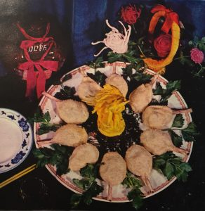 Snowflake Drumsticks 雪花雞腿, a banquet dish made in the late Cultural Revolution and in the first post-Mao years. From Selected Beijing Recipes 北京菜點選編, edited by the International Hotel, 1979.